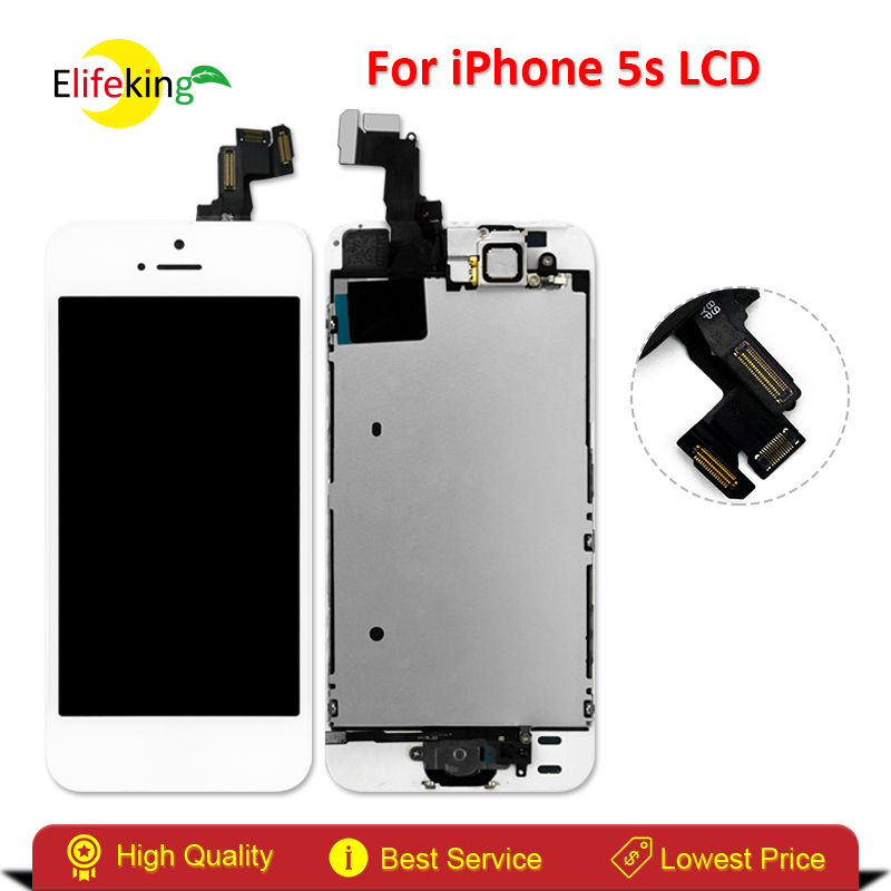 Elifeking Tested White/Black for iphone 5S LCD Display with Touch Screen Digitizer Full Assembly +Home Button Front Camera dreamcatcher single album nightmare release date 2017 01 13