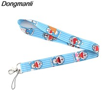 P3884 Dongmanli Cute Cat Keychain Lanyard Badge ID Lanyards/ Mobile Phone Rope/ Key Lanyard Neck Straps Accessories(China)