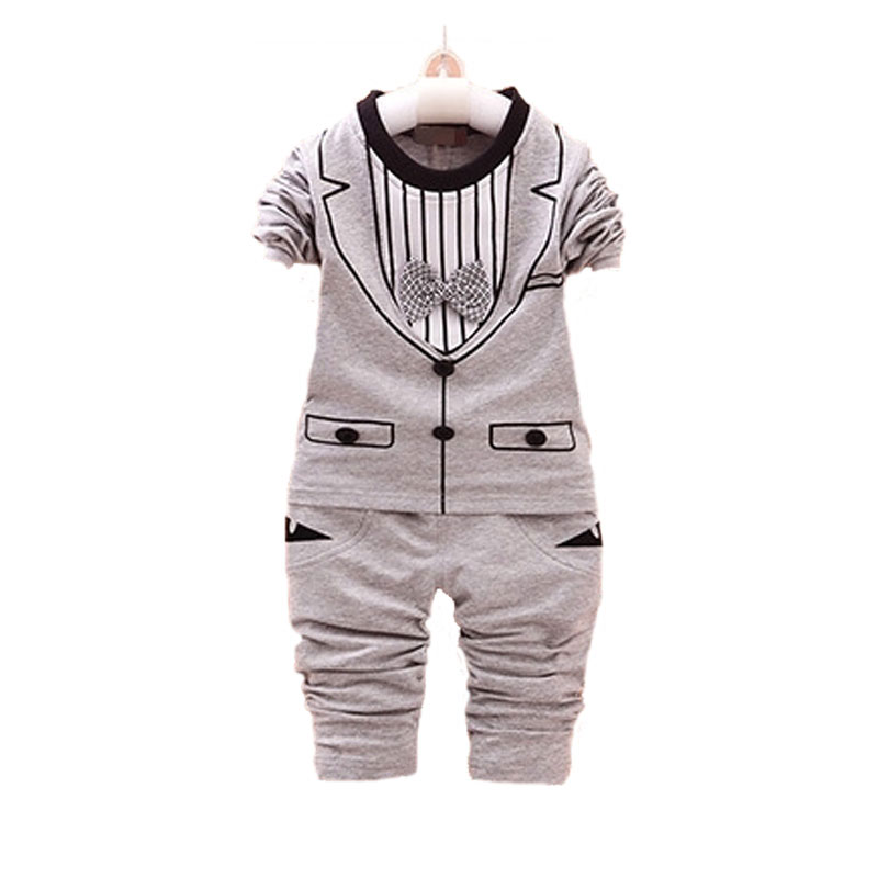 Spring Boys baby clothes Slim gentleman long-sleeved suit for baby boys birthday costume outfit brand sports suit clothing sets