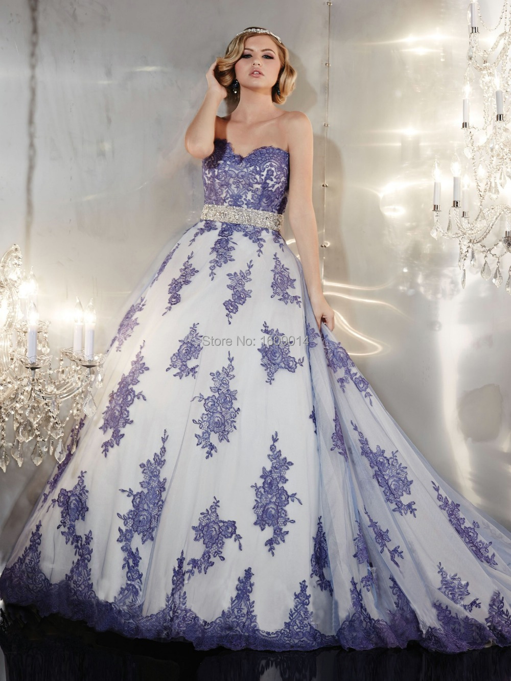 Free shipping WD 2415 Made to order two tone wedding dress with ...