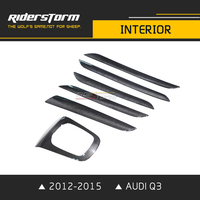 for Audi Q3 2012 2016 Carbon Fiber Door Interior Dashboard trim Door Panel Frame Car Interior Trim Riderstorm