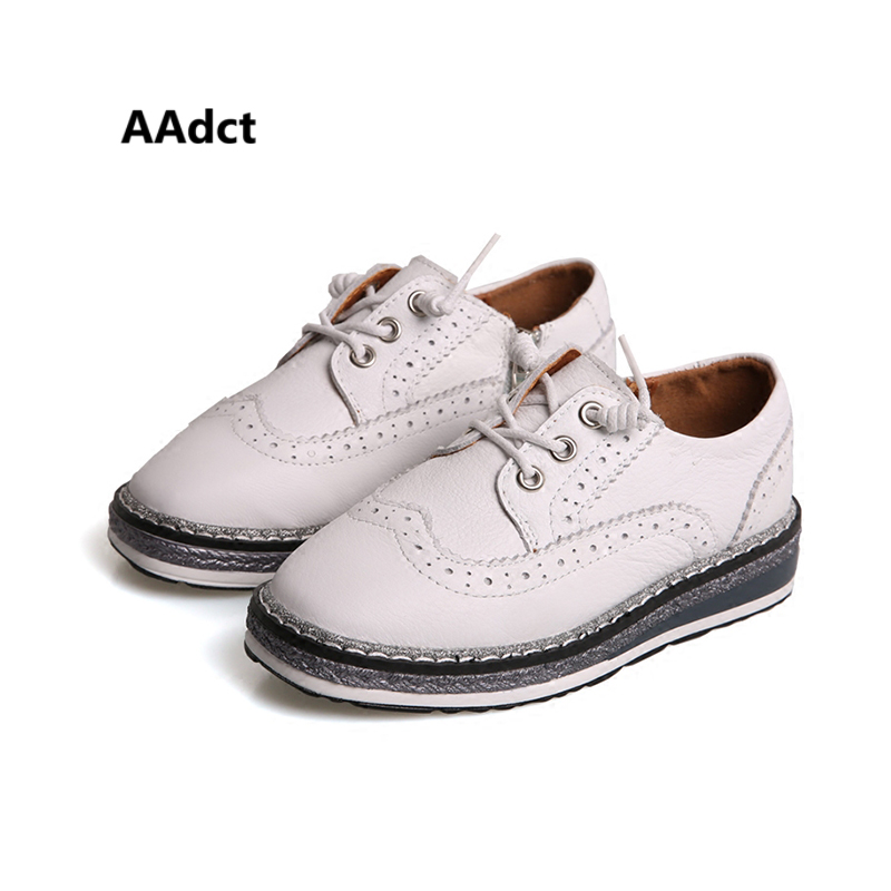 AAdct 2018 spring children leather shoes Brand Retro kids shoes for boys Genuine leather Rock platform princess girls shoes воблер rapala floating original f alb плавающий 0 9 1 5м 9см 5гр