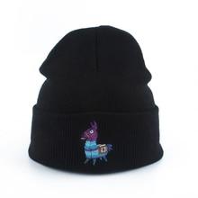 цены на New Fashion Winter Beanie Women Men Embroidery Cartoon Knitted Hat Skullies Solid Color Hip Hop Black Beanies Ski Cap  в интернет-магазинах