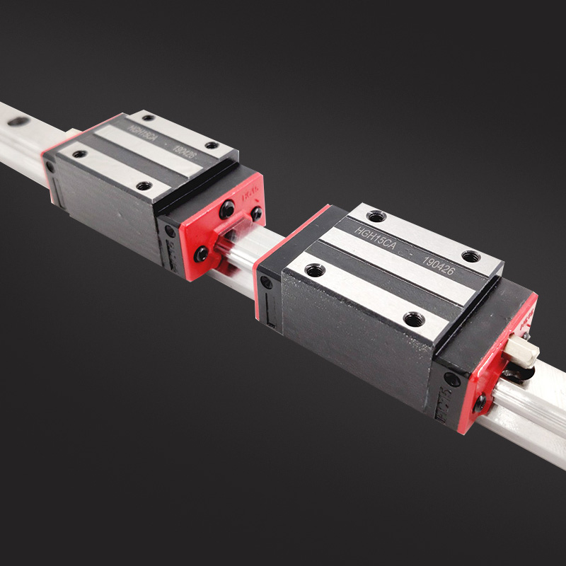 Precision rail 1PC HGH15 Linear guide 2PCS HGH15CA Block or HGW15CC Flange Block L 300 400