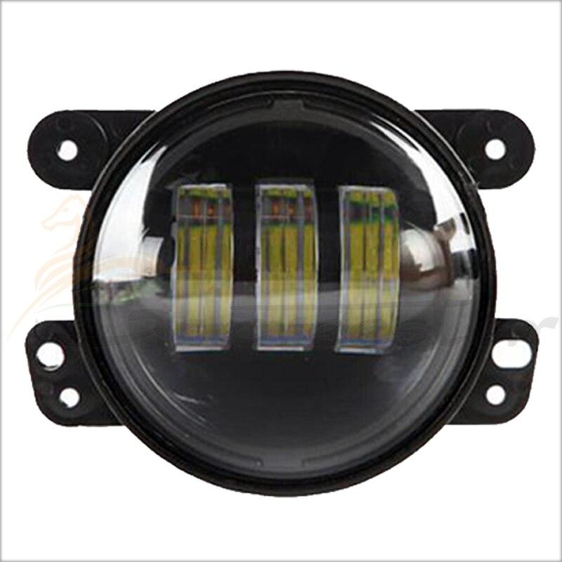 2016 New 4 Inch Round Led Fog Lights 30W Projector lens 12V Driving Led Headlight Fits Offroad Wrangler Jk Front Bumper Lights set j087 black steel 10th anniversary front bumper with fog lights fits 07 17 jeep wrangler