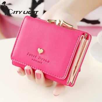 New arrival Small  women wallet short female purse brand coin wallet mini Carteira Feminina fashion lady wallet card holders