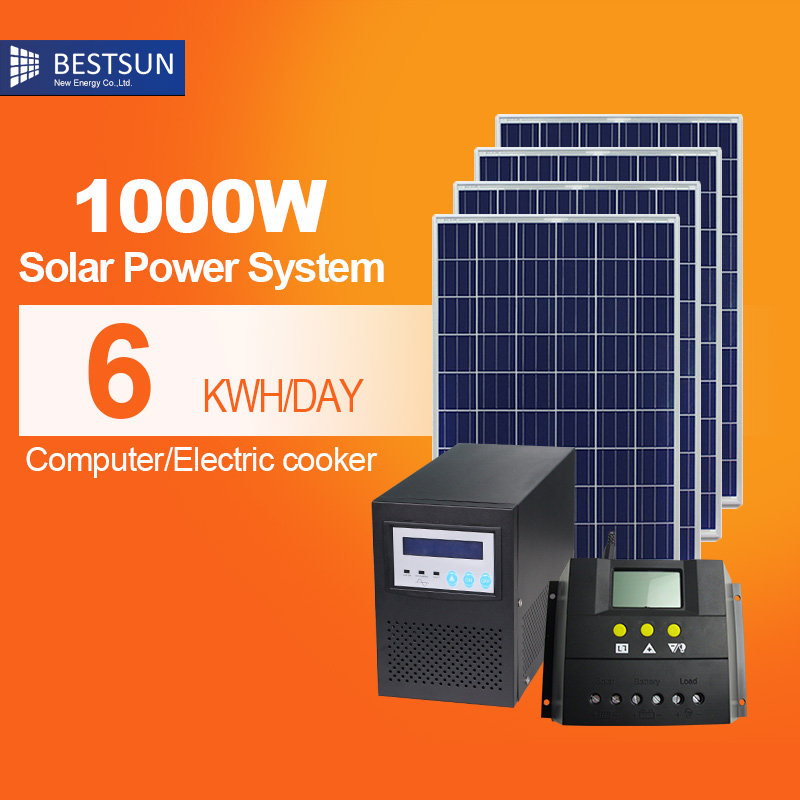 factory design power residential on grid tied off grid solar power system solar station for home - Home Solar Power System Design