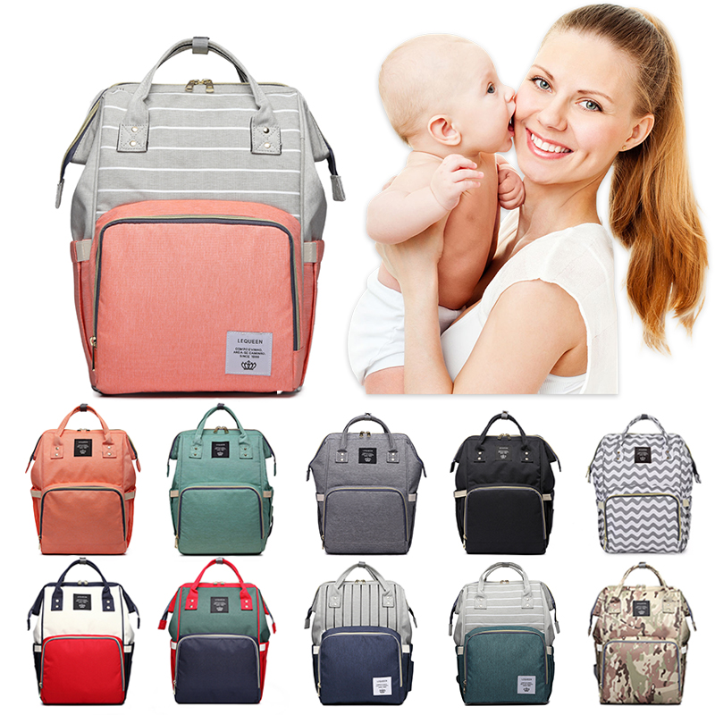 Fashion Mommy Diaper Bag Baby Bag Mummy Wheelchairs Carriage Backpack Mother Changing Bag Maternity Baby Care Stroller Nappy Bag