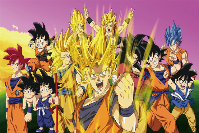 Japonais manga Anime Dragon Ball Z Goku Super Saiyan famille KB150 ...