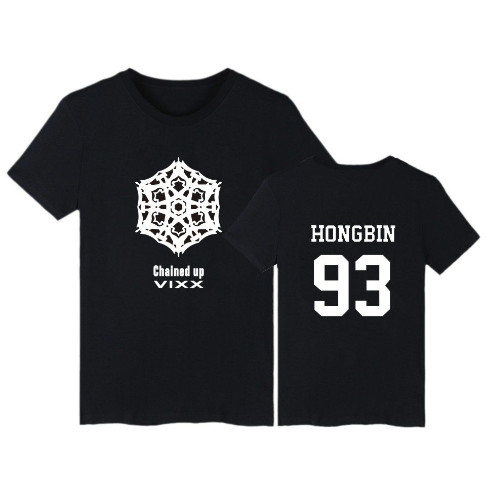 Summer Kpop Vixx T Shirt chained up Cotton T-Shirt VIXX HONGBIN HYUK KEN LEO N RAVI Plus Size children girls boys adult tshirt