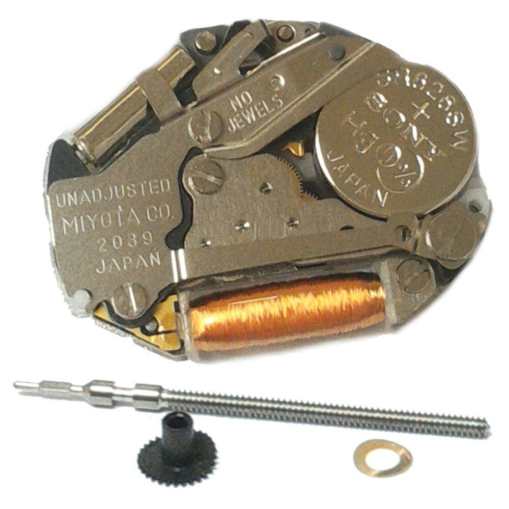 50 piezas al por mayor Miyota 2039 movimiento de reloj de cuarzo genuino 3 manos batería incluye envío gratuito de TNT a algunos países-in Relojes de cuarzo from Relojes de pulsera    1
