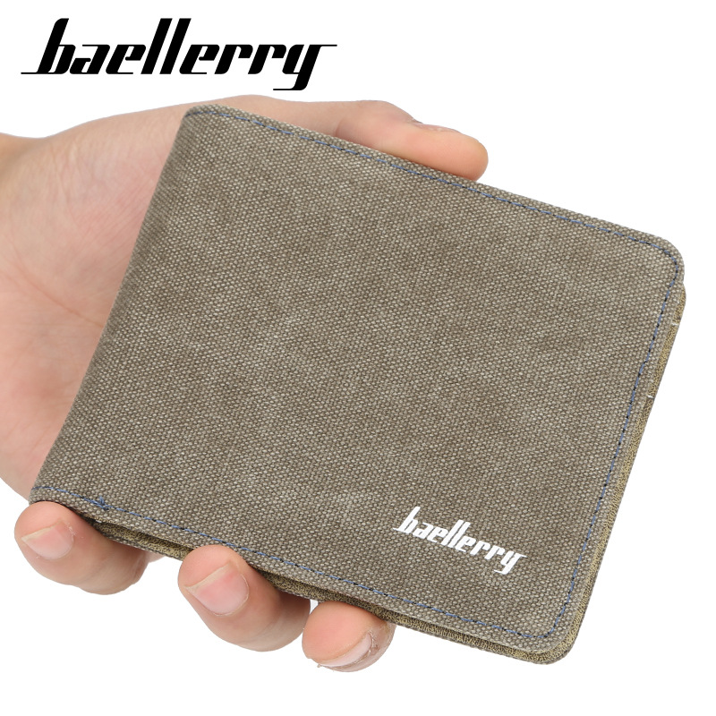New Men Wallets Fresh Designer's Purse Men Brand Canvas Card Purse Mens Wallet Wholesale Price Male Clutch