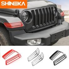 SHINEKA غطاء المصباح الأمامي لعجلة السيارة ، حماية المصباح الأمامي ، لـ Jeep Gladiator JT ، Jeep Wrangler ، desert JL 2018