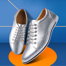 JUQI Men Leather Casual Shoes Men Lace Up New Fashion Sneakers Rubber Sole Non-slip Leather Flats Big Size 38-48 2018 men casual shoes brand men leather shoes sneakers men flats lace up genuine split leather shoes plus big size spring autumn