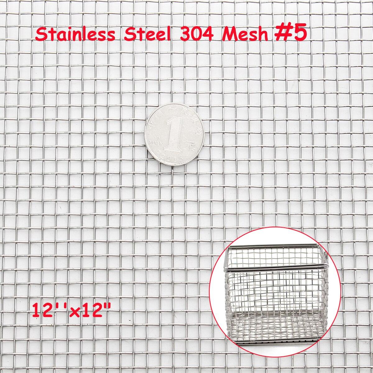 30x30 см плетеная проволока 304 Нержавеющая сталь фильтрация гриль лист фильтр 5 Сетка 12 ''x 12