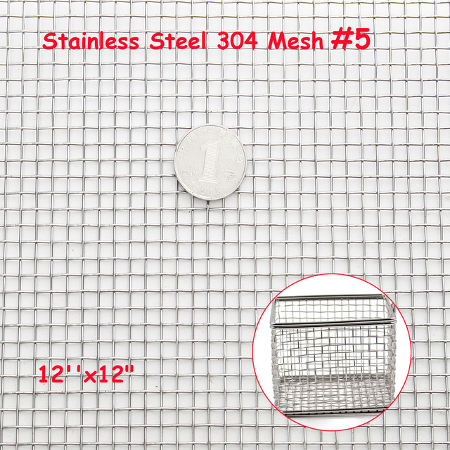 30x30cm Woven Wire 304 Stainless Steel Filtration Grill Sheet Filter ...