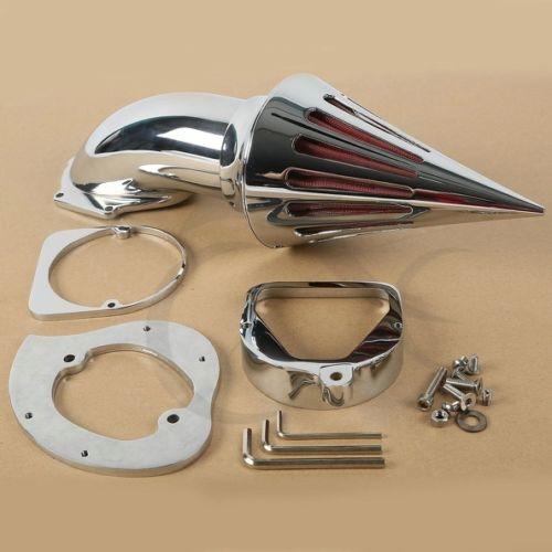 クロームスパイクエアクリーナーインテークフィルターホンダシャドウスピリット 750 1998 2013  グループ上の 自動車 &バイク からの エアフィルター & システム の中 2