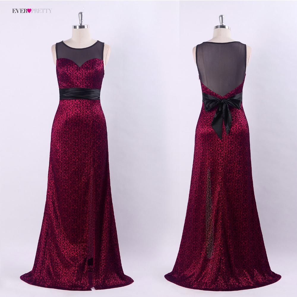 2018 Evening Dresses Ever Pretty Gorgeous Formal Round Neck Lace Long Sexy  Black Party EP08950 Special Occasion Party Dresses-in Evening Dresses from  ... 867677112a39