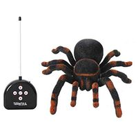 Novelty 4 Channl RC Spider Eye Shine Halloween Simulation Plush Creepy Tarantula Remote Control Tricky Scary Soft Toy Prank Gift