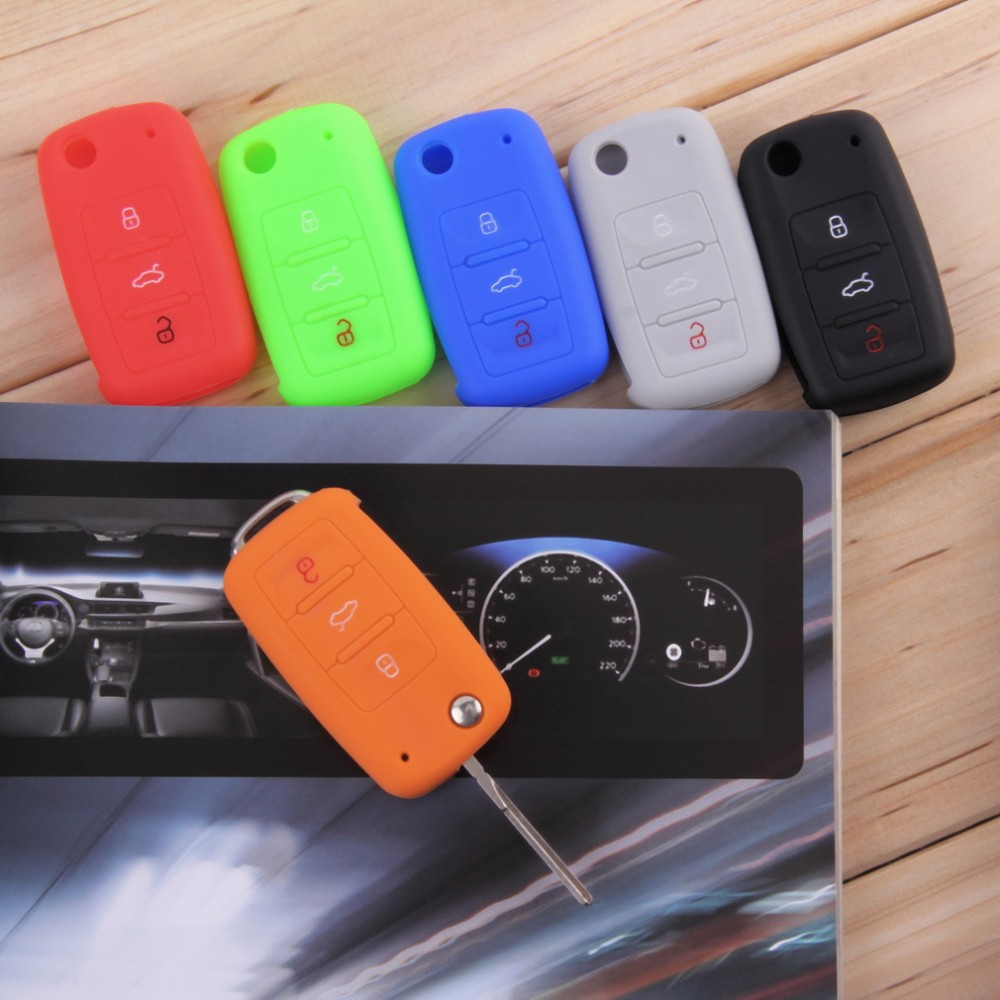 Universal Silicone Car Key Key Cover Cover Candy Color Turma do - لوازم جانبی لوازم داخلی خودرو