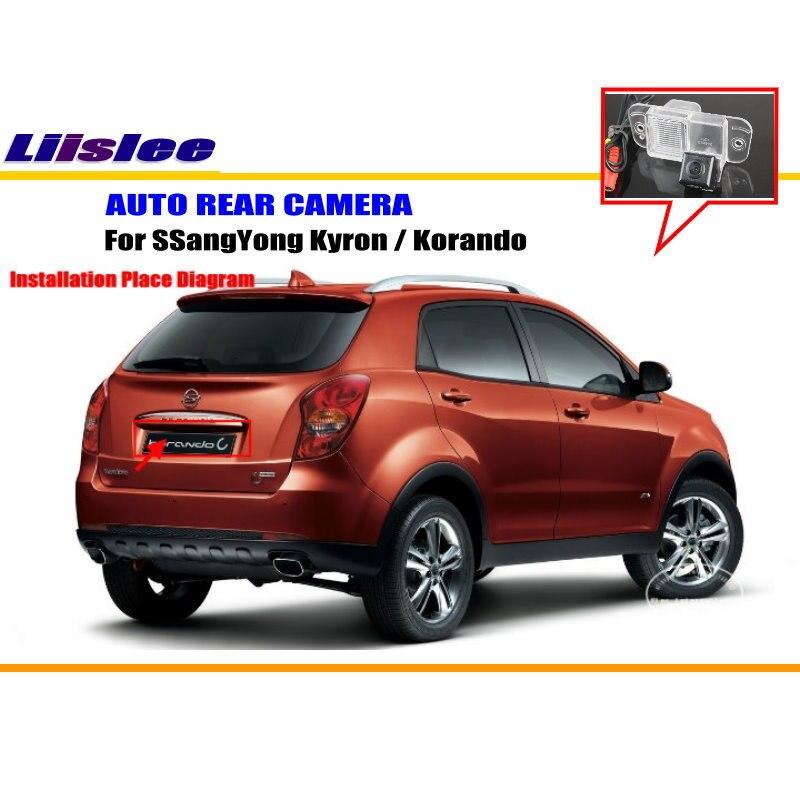 Liislee для SSangYong Kyron/Korando-камера заднего вида/HD CCD RCA NTST PAL/светильник номерного знака CAM