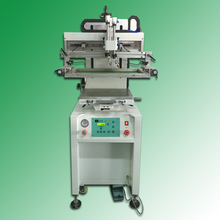 automatic flat bed label screen printing machine