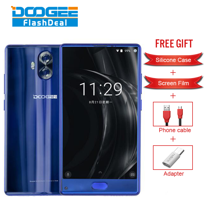 Origine DOOGEE MIX Lite Smartphone 5.2 Pouce Android 7.0 2 GB RAM 16 GB ROM MTK6737 Quad-Core 1.5 GHz 4G D'empreintes Digitales mobile téléphone