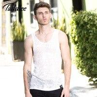Taddlee Brand Men Tank Top Tee Shirts Sleeveless Cotton Fashion 2017 New Design Tshirts Vest Apparel