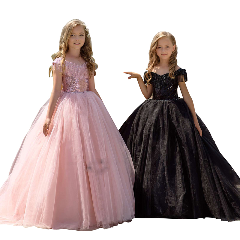 fancy little girls dresses cap sleeve tulle flower girl dress children long puffy kids pink ball gowns dresses for girlsfancy little girls dresses cap sleeve tulle flower girl dress children long puffy kids pink ball gowns dresses for girls