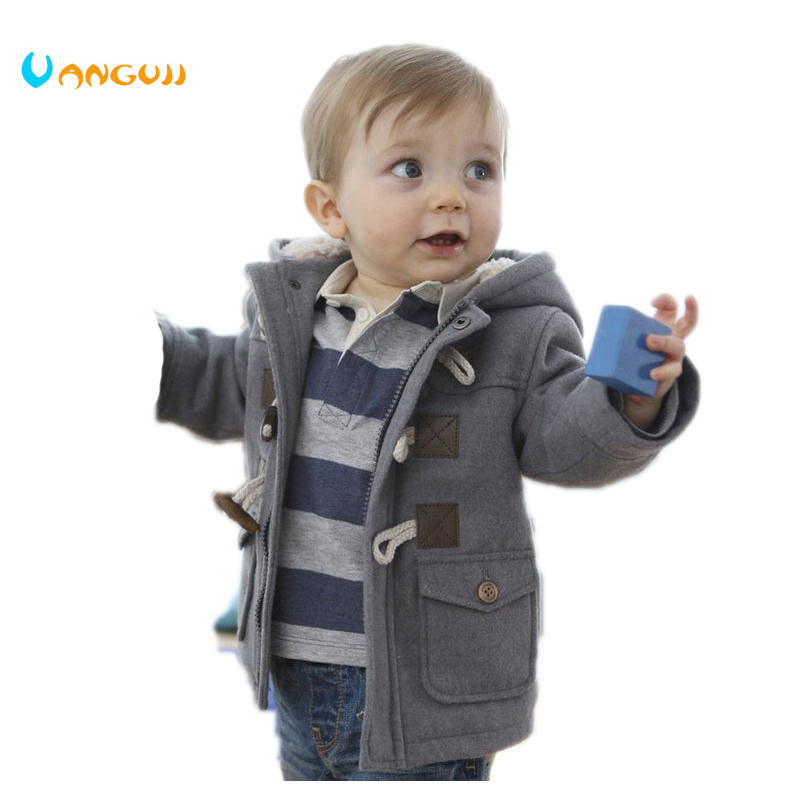 Baby Boys Jacket Clothes 2016 New Winter 2 Color Outerwear Coat Thick Kids Clothes Children Clothing With Hooded Retail Hot sale