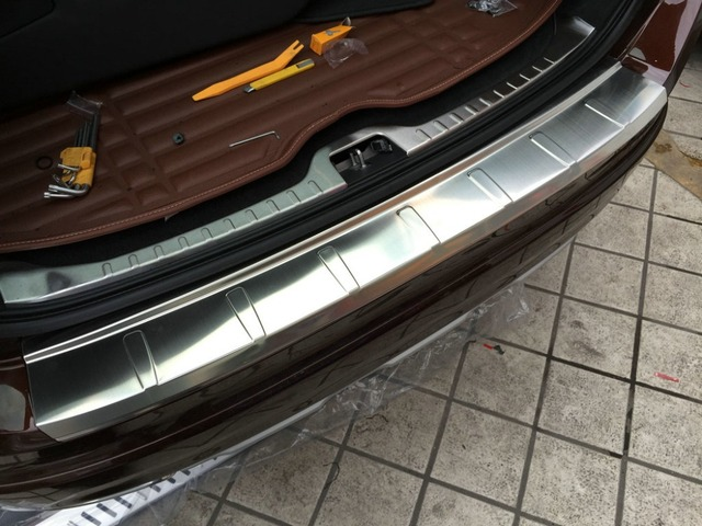 Auto rear bumper protector trim for  XC60 2014-2015,stainless steel,auto accessories
