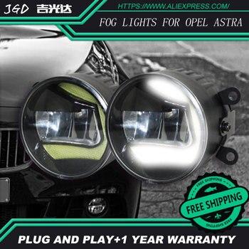 For Opel Astra 2004-2014 LR2 Car styling front bumper LED fog Lights high brightness fog lamps 1set