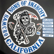 2015 Original Son Of Jacket Back Embroidered Anarchy Patch Motorcycle Biker Club Patch 36CM Full Back SOA Patches Brand