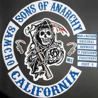 2015 Original fils de veste dos brodé anarchie Patch moto Biker Club Patch 36CM dos complet SOA patchs marque