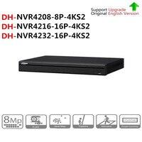 DH NVR4208 8P 4KS2 NVR4216 16P 4KS2 NVR4232 16P 4KS2 с PoE Порты и разъёмы 4k разрешение H.265 для IP Камера безопасности Системы