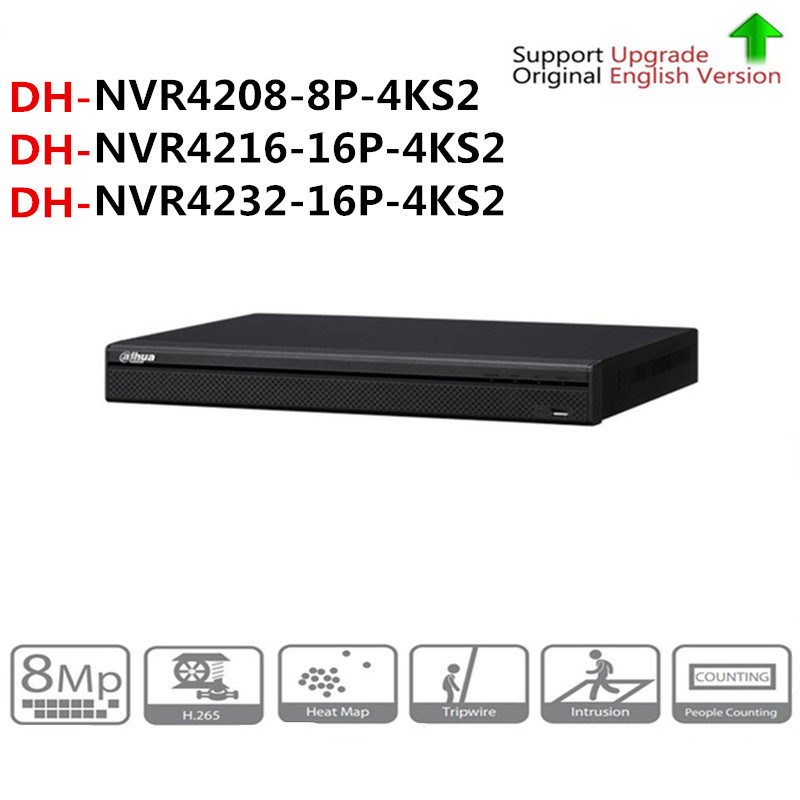 DH NVR4208-8P-4KS2 NVR4216-16P-4KS2 NVR4232-16P-4KS2 With PoE Port 4K Resolution H.265 For IP Camera Security SystemDH NVR4208-8P-4KS2 NVR4216-16P-4KS2 NVR4232-16P-4KS2 With PoE Port 4K Resolution H.265 For IP Camera Security System