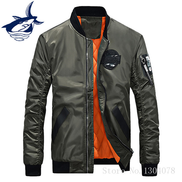 b84519a2 TACE SHARK Fly Pilot Jacket Military Aviation Flight Tactical Bomber Jacket  Men Winter Warm Army Soldier Air Force Male Clothing