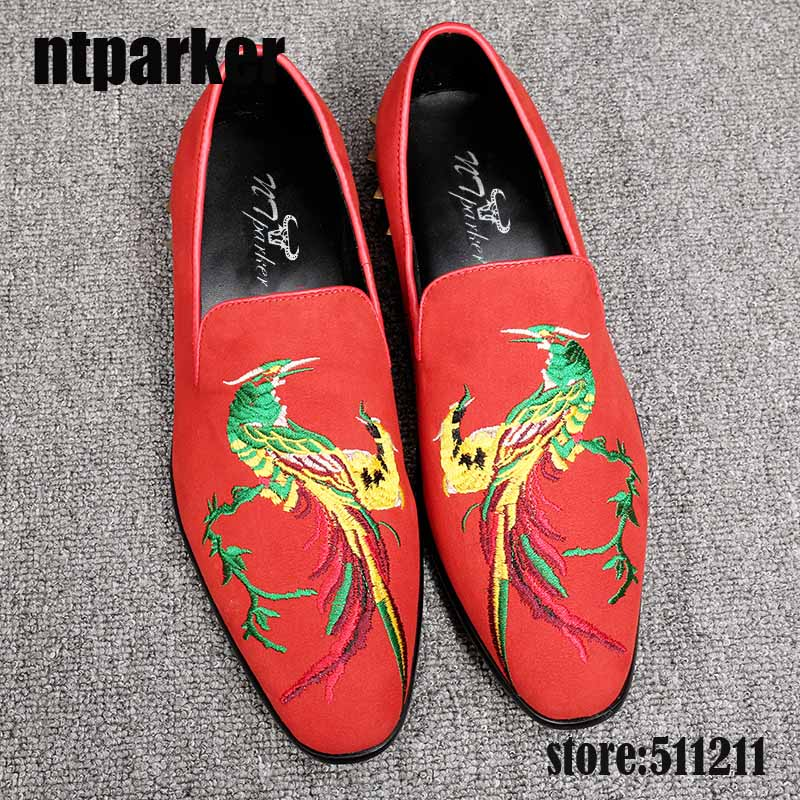 ntparker Limited Edition Handmade Men's Leather Shoes Red/Black Suede Men Flats Casual Leather Shoes Wedding Party Dress Shoes new mf8 eitan s star icosaix radiolarian puzzle magic cube black and primary limited edition very challenging welcome to buy
