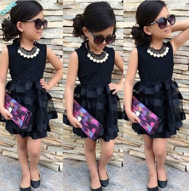 Popular Girls Black Dresses Kids-Buy Cheap Girls Black Dresses ...
