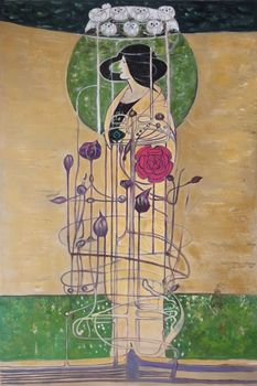 Abstract Canvas Painting Home Decor Art Oil Painting for Pub Office Design for a Wall Decoration by Charles Rennie Mackintosh