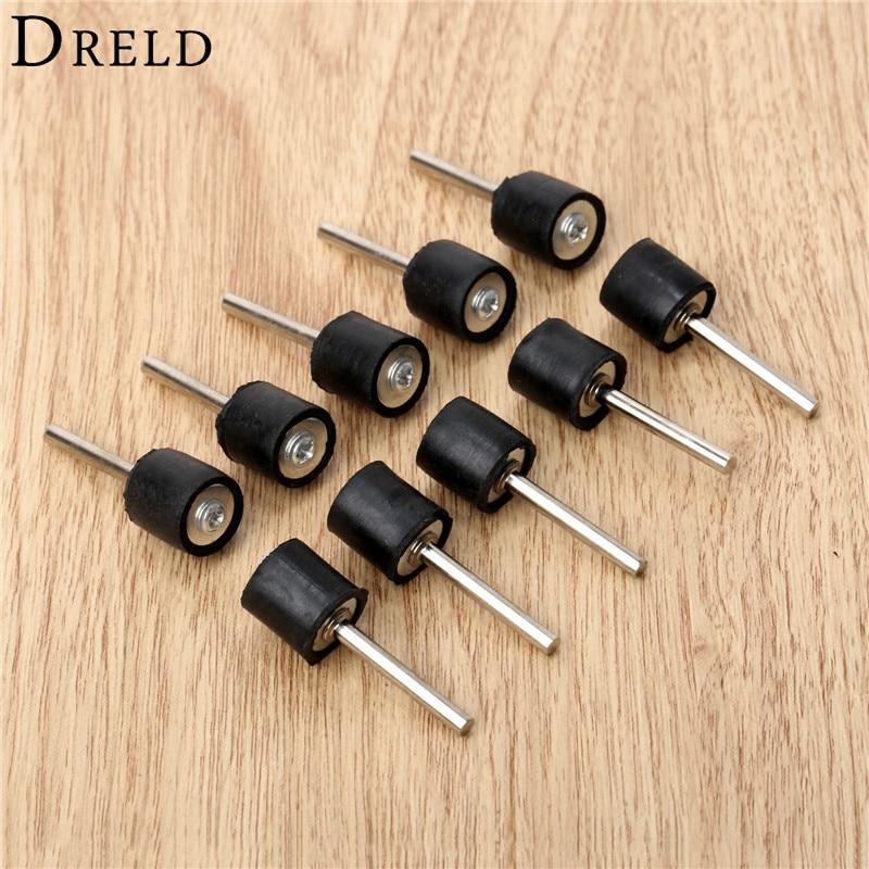 10 db-os Dremel kiegészítők, 6,35 mm-es dobgumi kesztyű, 2,35 mm-es szárrúd csiszoló csiszoláshoz, csiszoláshoz, csiszoláshoz, illeszkedéshez, Dremel forgószerszámhoz