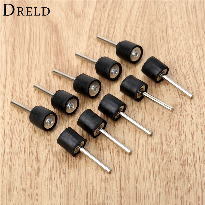 10Pc Dremel Accessories 6.35mm Drum Rubber Mandrel 2.35mm Shank Rod For Sander Sanding Grinding Polishing Fit Dremel Rotary Tool
