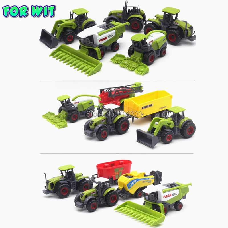 5pcs/set, Die-cast Metal Agricultural Vehicles Combination Model with Plastic Parts, Farm Car Tractor Trailers Collector Edition rep 1 32 fiat 110 90 tractor alloy model agricultural vehicles favorites model
