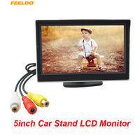 FEELDO 1Set 5inch Stand Digital Display LCD 5 Car Monitor For Reversing Backup Camera DVD VCR