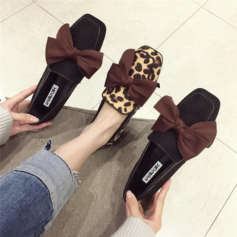 Wellwalk Ballet Flats Woman Shoes Leopard Loafers Women Ballerina Flats Shoes Ladies Black Flats Female Moccasins Shoes Spring 2