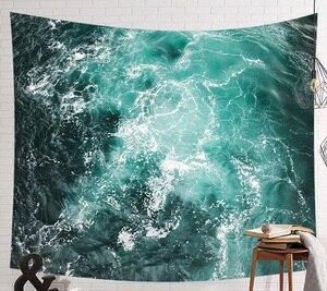 Image 2 - CAMMITEVER tapiz de elefante indio de mar azul, estampado de colores, decoración de Mandala, Alfombra de pared Bohemia, esterilla de tela de playa