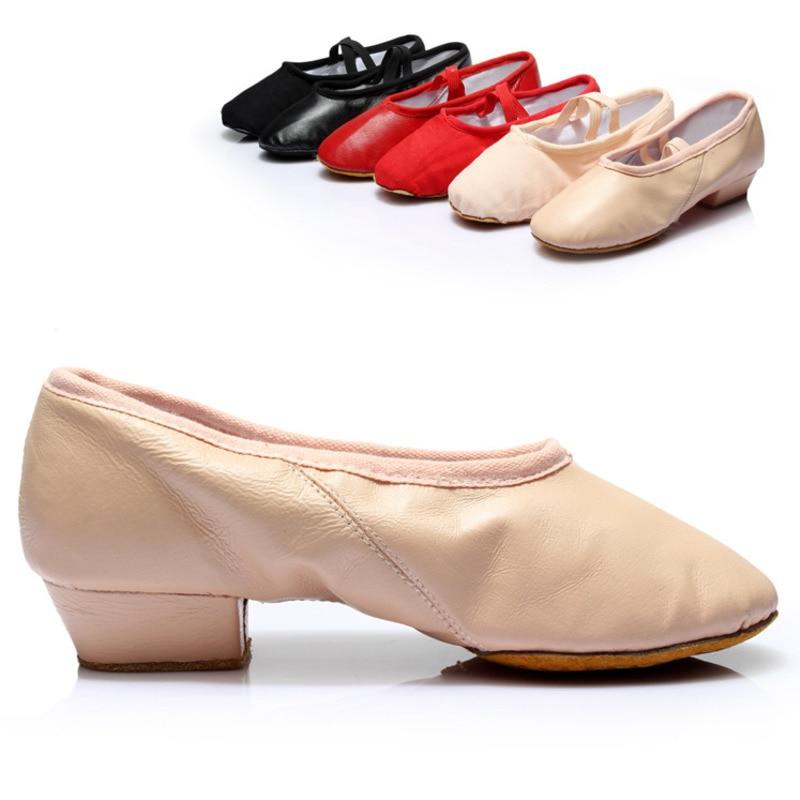 Women Girl Gold Ballet Dance Shoes Pointe Gymnastics ... |Practice Ballet Shoes