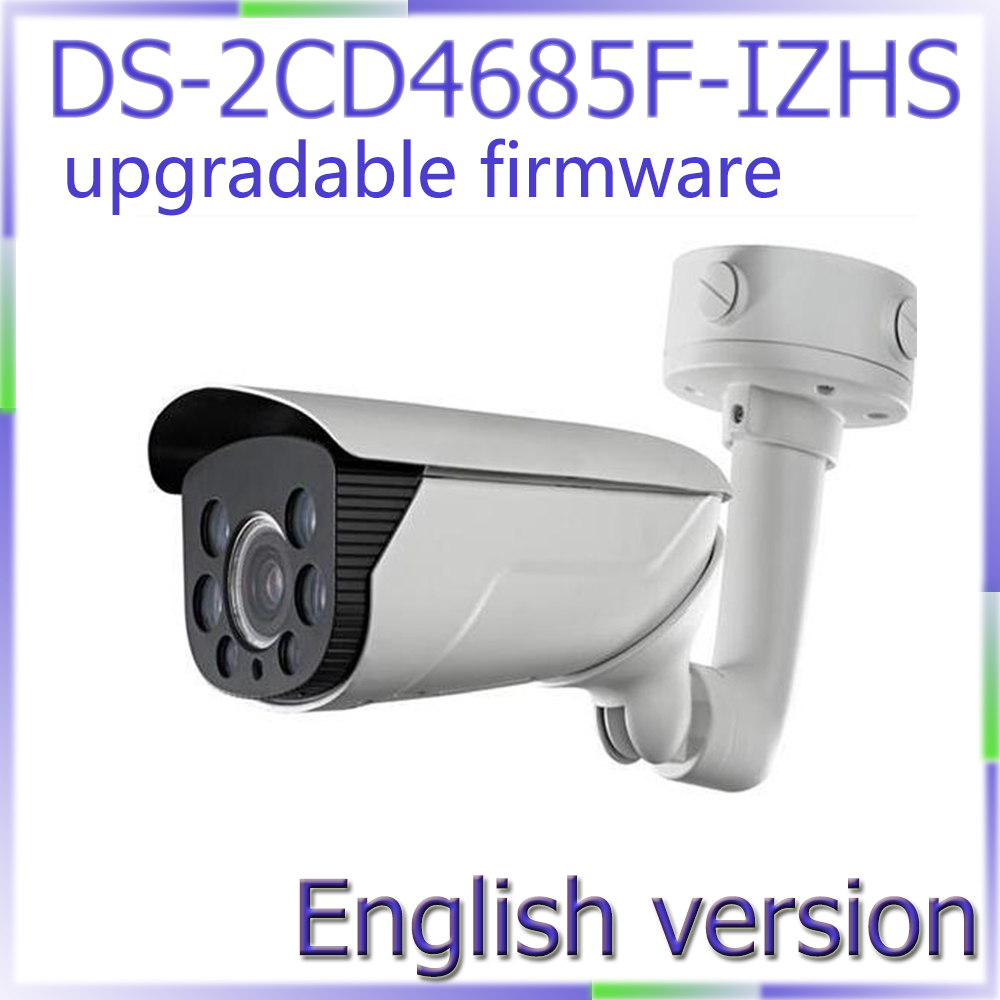free shipping English version DS-2CD4685F-IZHS 4K Smart Bullet Camera, POE ip camera moterized lens with smart focus 70m IR bullet camera tube camera headset holder with varied size in diameter