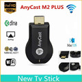 AnyCast Miracast 1080P M2 Plus Wireless Wifi HDMI Display Dongle Receiver DLNA TV Stick Black + USB With Wi-Fi 2 in 1 cable