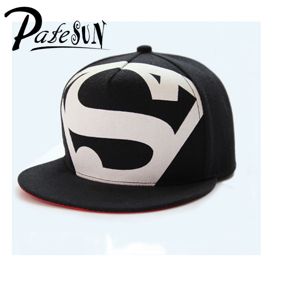 Hot! New Arrive Fashion Hip Hop Superman Snapback Caps Hats For Men Women Summer Casual Baseball Cap Hat Free Shipping boapt unisex letter embroidery cotton women hat snapback caps men casual hip hop hats summer retro brand baseball cap female